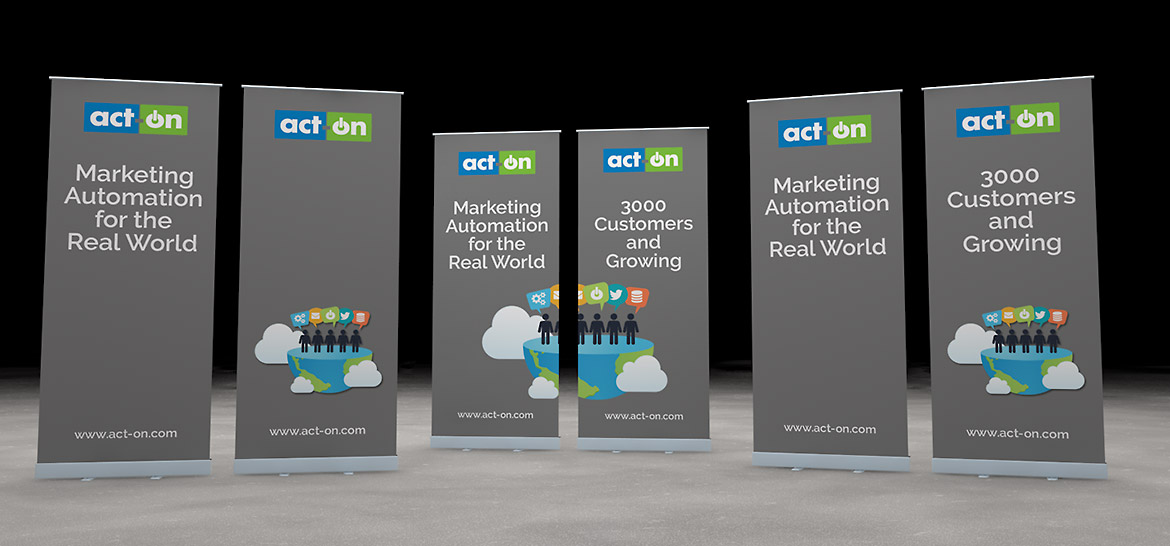 Act-On Pull Up Banners Pre-Visualization
