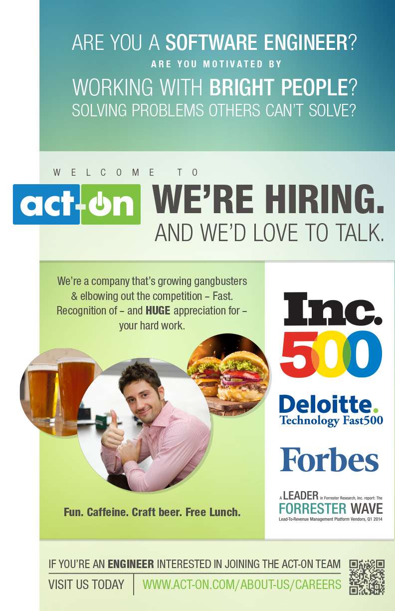 Act-On Engineering Recruiting Poster