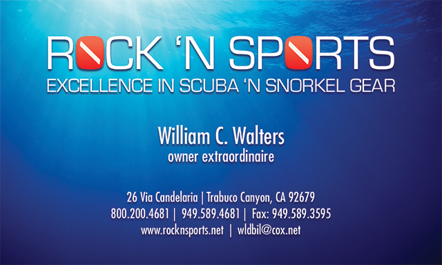 Rock N Sports Business Card