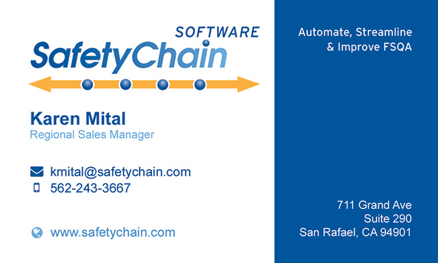 Safetychain Business Card
