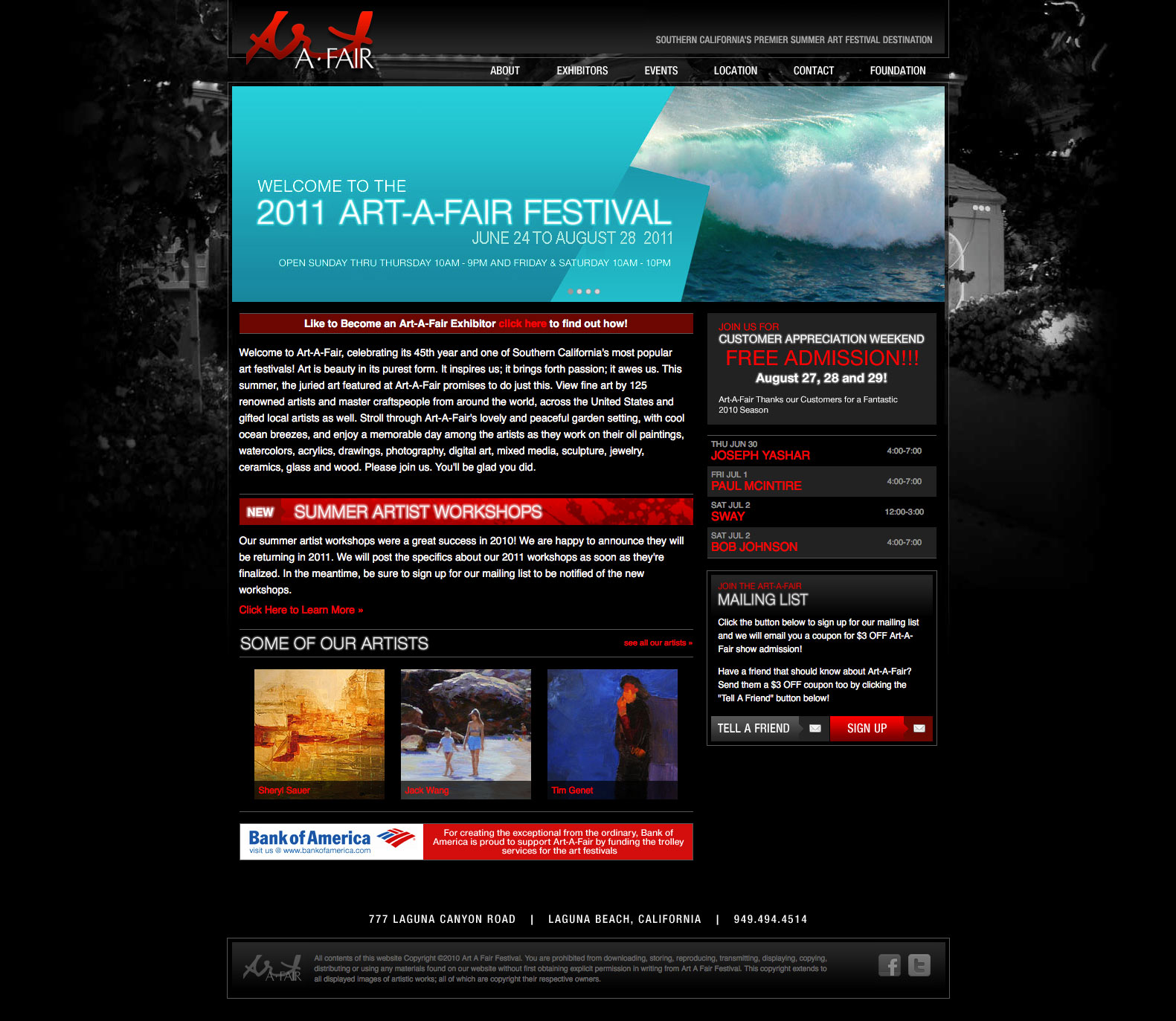 Art-A-Fair Art Fesitval Website