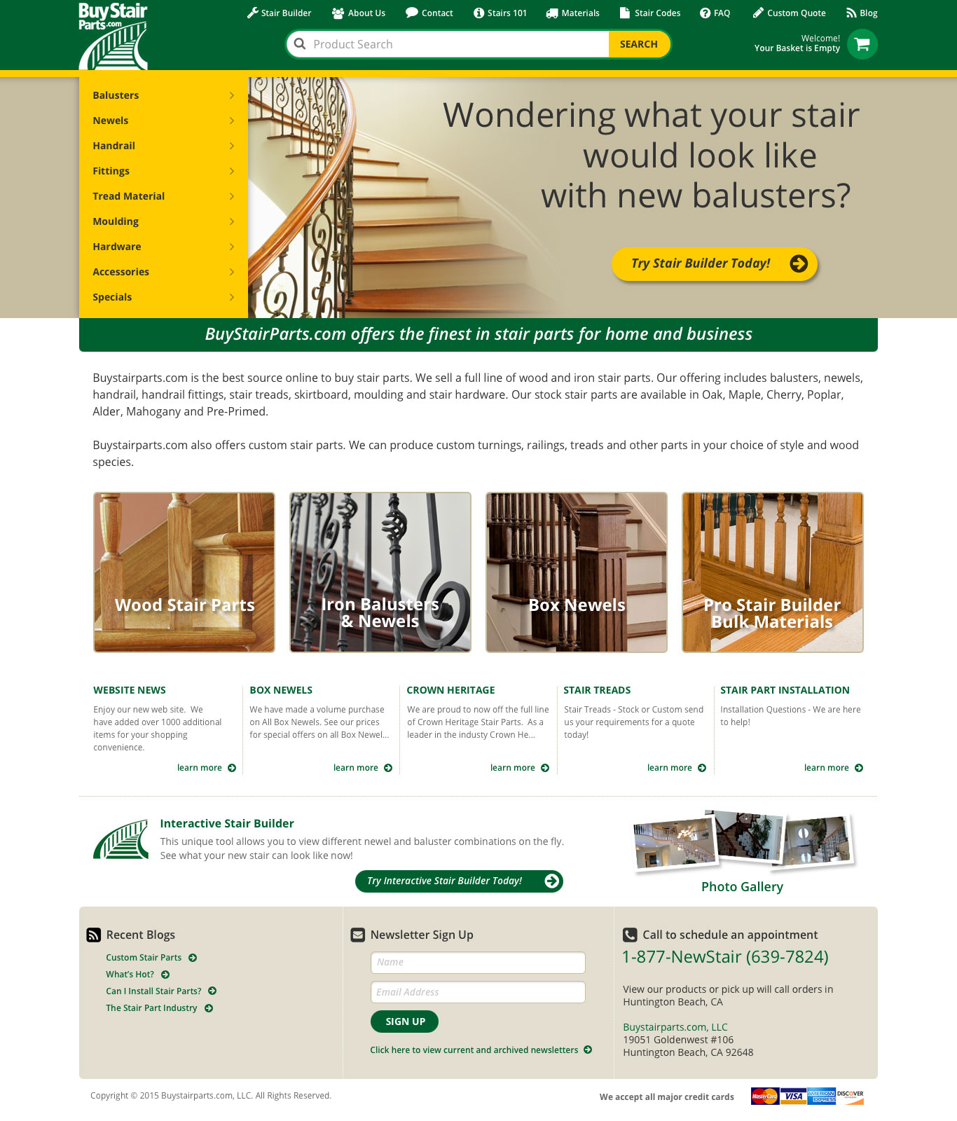 Buy Stair Parts Website